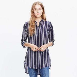 Madewell Silk Tunic Striped Top